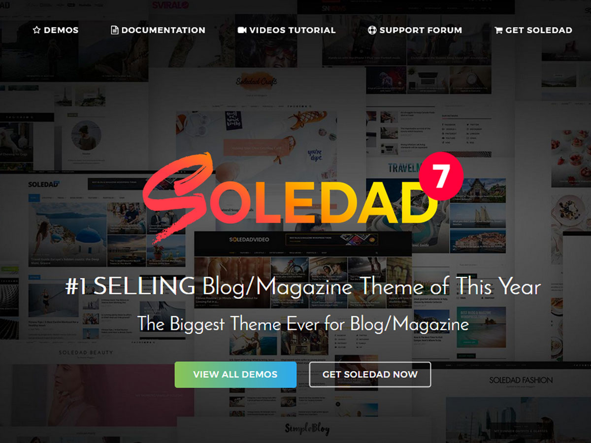 Soledad – Review of the Best Selling Blog/Magazine Theme of WordPress (2021)