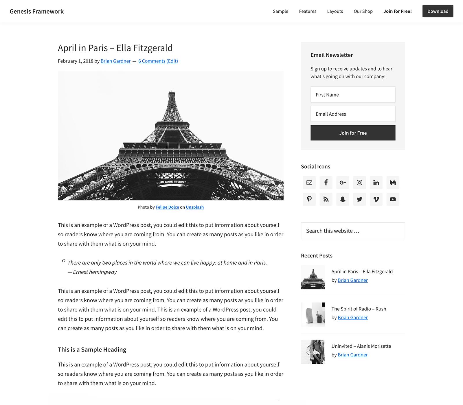 Genesis Framework – Review of WordPress Popular Framework