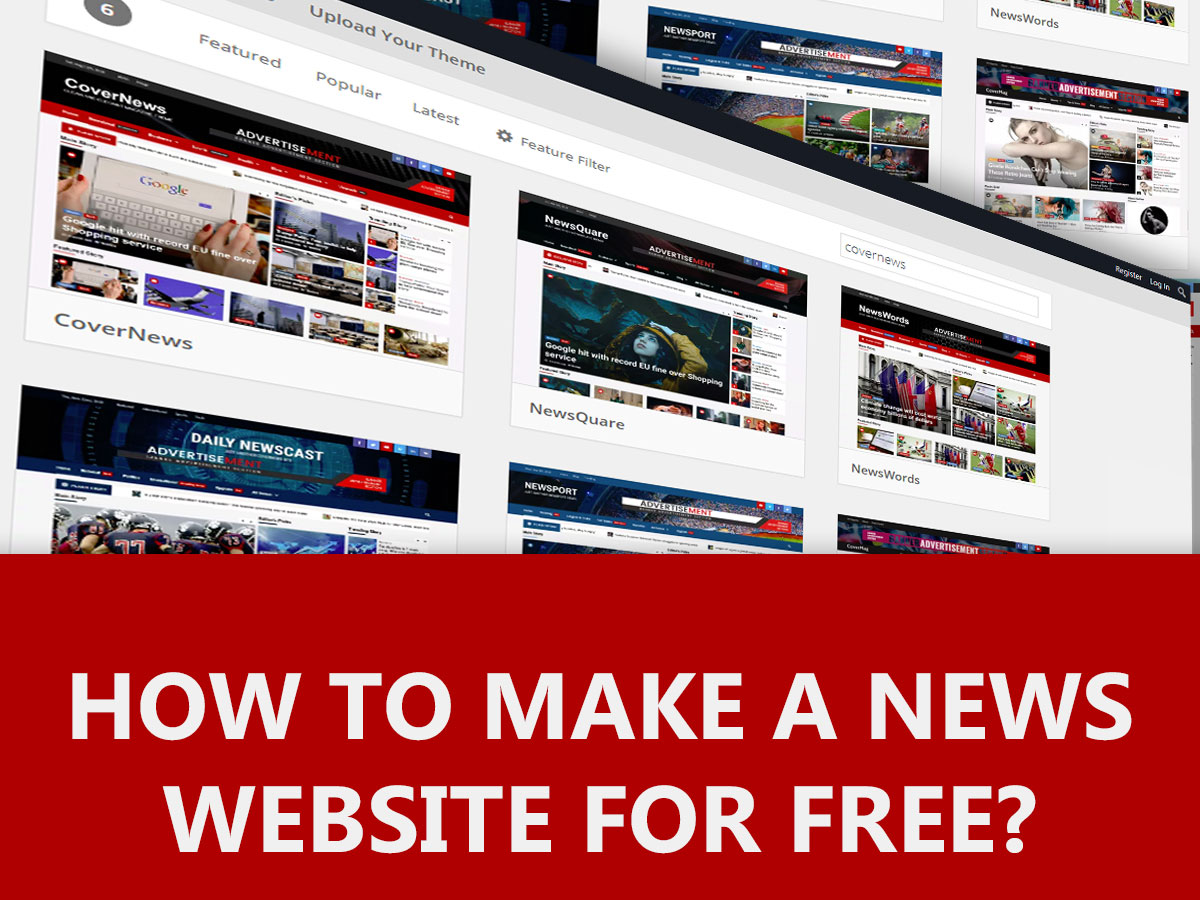 How to make a News Website for Free ? (2021)