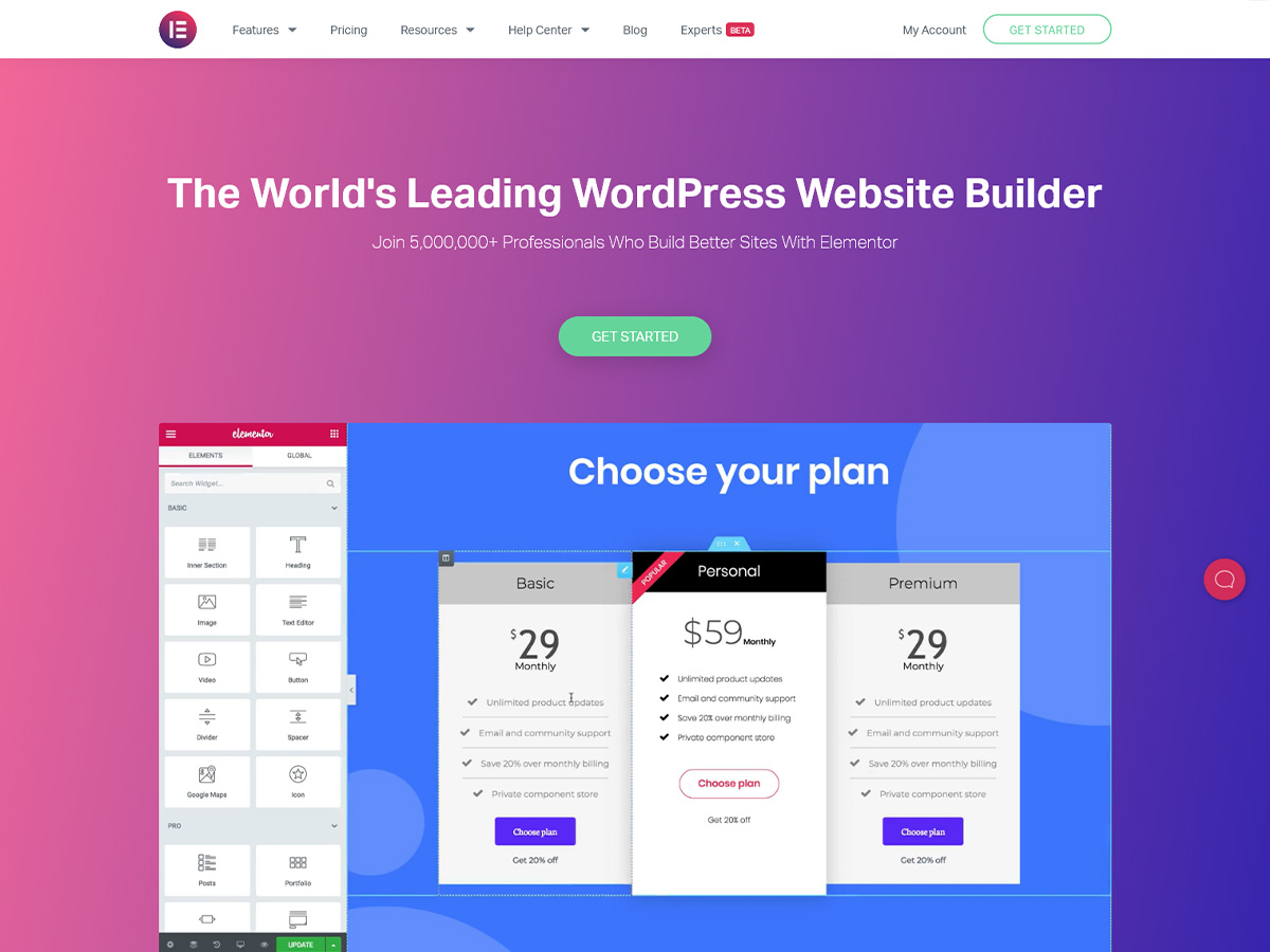 Elementor Page Builder- Review of the Most Popular Page Builder 2021